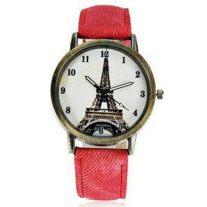 Red Tower Pattern Watch